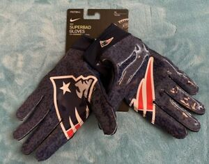 Nike NFL Football Superbad Gloves New England Patriots Size: XL (CK2861-408)