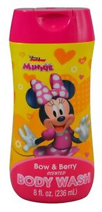 Disney Junior Minnie Mouse Body Wash 8oz Flip Top Bottle with Bow & Berry Scent