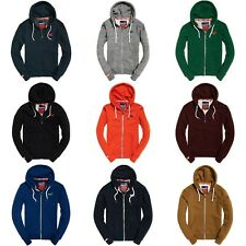 SUPERDRY HOODIE - SUPERDRY ORANGE LABEL ZIP HOOD - NAVY/GREY/ICE MARL - BNWT