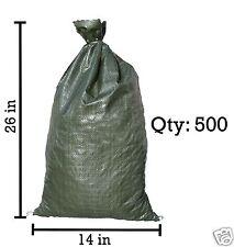 Sandbaggy 500 Green Empty Sandbags For Sale 14x26 Sandbag Sand Bags Bag Poly