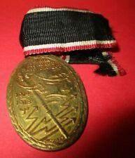 New listing Vintage German Military Medal With Ribbon 1914-18 Blank Die Wehr Rein Die Ehr