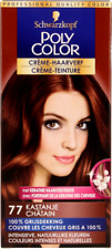 SCHWARZKOPF Poly Color Permanent Cream Color Tint 77 Chestnut Best Price FreeP&P
