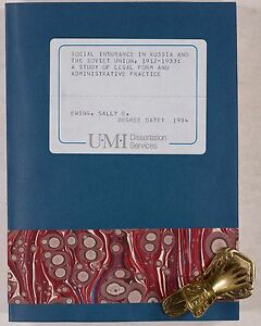 Ewing, Sally E.: Social Insurance in Rusia and the Soviet Union 1912-1933 Dis.
