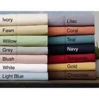 1 PC Fitted Sheet 1000 TC/1200 TC Egyptian Cotton US King Solid Colors