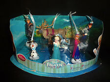 Disney FROZEN 6pc Custom Ornament Figure Set Elsa Anna Olaf Kristoff Sven Hans