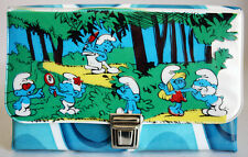 AMAZING ULTRA RARE ORIGINAL VINTAGE 80'S SMURFS PENCIL CASE BAG 7 BRAND NEW NOS
