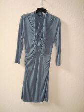Kenneth Cole New York NWT Womens Grey Ruffled Bodycon Dress Large