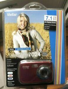 VIVITAR 7.1 MP Digital CAMERA, New SEALED - Vivicam 7024 High Def w/ Software