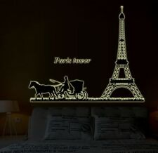 Paris Effiel Tower Quote Glow in Dark Removeable Wall Sticker Decal Decor Art