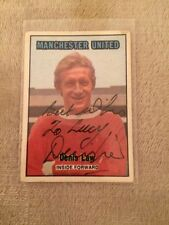 Hard Signed Manchester United Football Trading Cards