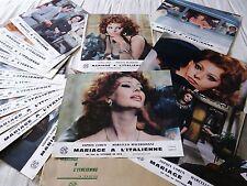 MARIAGE A L'ITALIENNE ! sophia loren jeu 16 photos cinema lobby cards 1964