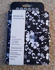 TRENDZ KINDLE 4 KOBO TOUCH NOOK SIMPLE TOUCH E READER CASE FLORAL FLOWER PATTERN