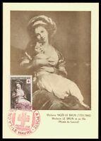 FRANCE MK 1953 ROTES KREUZ RED CROSS ART LOUVRE CARTE MAXIMUM CARD MC CM ax25
