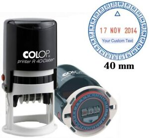 Self Inking COLOP R40 24 Hour Time & Date 40MM Custom Business Stamp COLP-C18