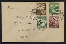 Germany   semi postal stamps on a cover to US  1938       MS0612
