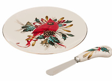 Lenox Winter Greetings Cheese Plate with Knife