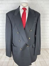 Oscar De La Renta Men's Black Solid Blazer 46L $1,098