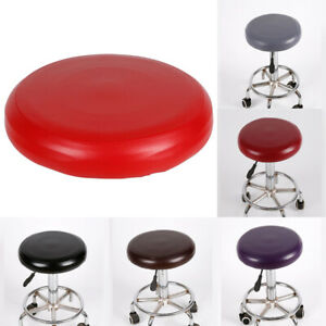 Home Stool Cover Round Elastic Slipcover Chair Protector Seat Cushion PU Leathe