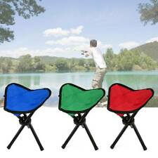 Portable Camping Fishing Travel Foldable Tripod Folding Seat Stool Chair New UK