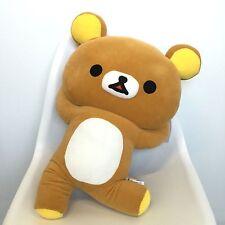 "San-X Large Rilakkuma Brown Relax Bear Plush Pillow Toy 20"" - Sega UFO Prize Win"