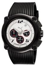 New Authentic PUMA Watch ROTOR Chronograph Black + Free Puma Beach Bag