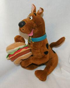"Applause Talking Scooby-Doo w/Hamburger Plush 13"" 1999"