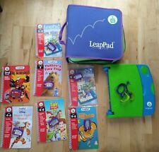 Large Job Lot Leapfrog LeapPad pad case 7 Books  Cartridges Tigger Nemo ToyStory