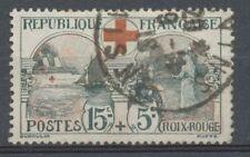 FRANCE N°156 15c+5c noir et rouge Obl TB Cote 70€ A1296