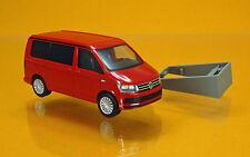 Herpa 028745 002 Volkswagen VW T6 California Wohnmobil kirschrot Scale 1 87 NEU