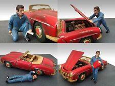 American Diorama Mechanics Set of 4 1/18 Scale Figurines Diecast Accessories