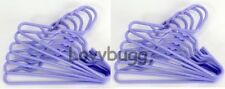 10 Lavender Hangers Dozen for 18 inch Doll Clothes American Girl & Bitty Baby