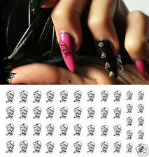 Skull Smoking Cigar Nail Art Waterslide Decals - Great for Halloween!