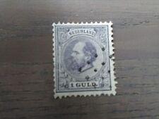 Nederland NVPH 28 Koning Willem III 1872-1888 1 Gulden Grijsviolet gestempeld