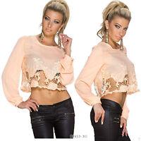 Women Top Ladies Party Crop Blouse Cut Works Clubbing Party Shirt Size 6 8 10 12