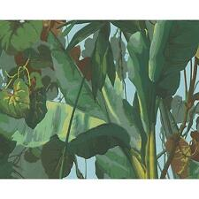 NEW AS CREATION NATURE EMBOSSED LEAF PATTERN FLORAL JUNGLE WALLPAPER ROLL 958981