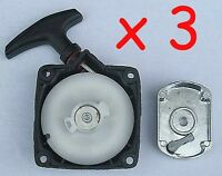 3x Pull Starter Brush Cutter Start Claw 47cc 43cc, 49cc, 52cc  &  Pawl Cog Plate