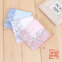 Quality Women 100% Cotton Cherry Blossoms Handkerchiefs Hanky Kerchiefs 45*45cm