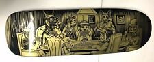 SIGNED Rodney Mullen Almost Deck 9.625 x 31.8 RARE Gold Poker Dogs Board NEW