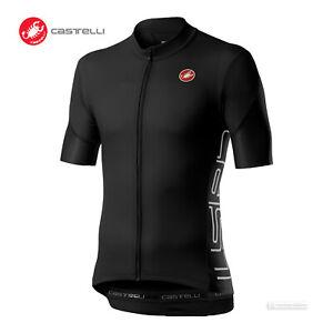Castelli ENTRATA V Short Sleeve Full Zip Cycling Jersey : LIGHT BLACK