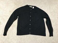 Women's Apostrophe Cashmere Black Cardigan - Size S