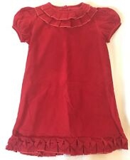 Zuccini Red Corduroy Pleated Dress Christmas Holidays Size 4 4t