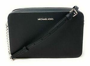 Michael Kors Jet Set Item Large East West Crossbody Chain Handbag Clutch $328