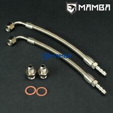 """Universal DIY Turbo Water Line Kit 70cm 90Deg-3/8""""Barb Fit Garrett T3 TB03 SAAB"""