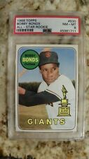 1969 Topps #630 Bobby Bonds Topps All-Star Rookie Cup PSA 8 NM-MT Label #711