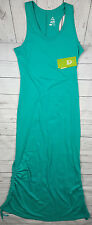 Alpine Design Women Small Long Maxi Summer Dress Beach Green Sleeveless New