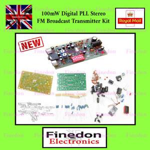 Digital FM Transmitter Radio players Station 0.1W PLL Stereo BH1417F Kit UK