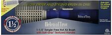 Helen of Troy 1573 Tangle Free Hot Air Brush, White, 1 1/2 Inches Barrel, New