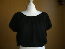 Atmosphere Top Shirt Tunika Gr 34 XS schwarz kurzarm