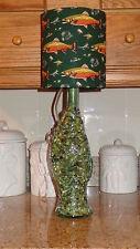 Collectible Light Green Fish-Shaped Btottle  (Green Fishing Shade)/Cabin Decor