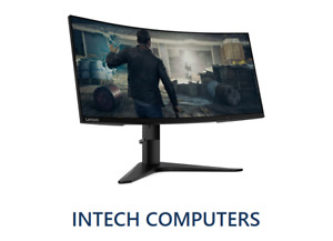 """LENOVO G34W-10 34"""" CURVED MONITOR, 3440 x 1440 21:9 UltraWide, 4ms Response, New"""
